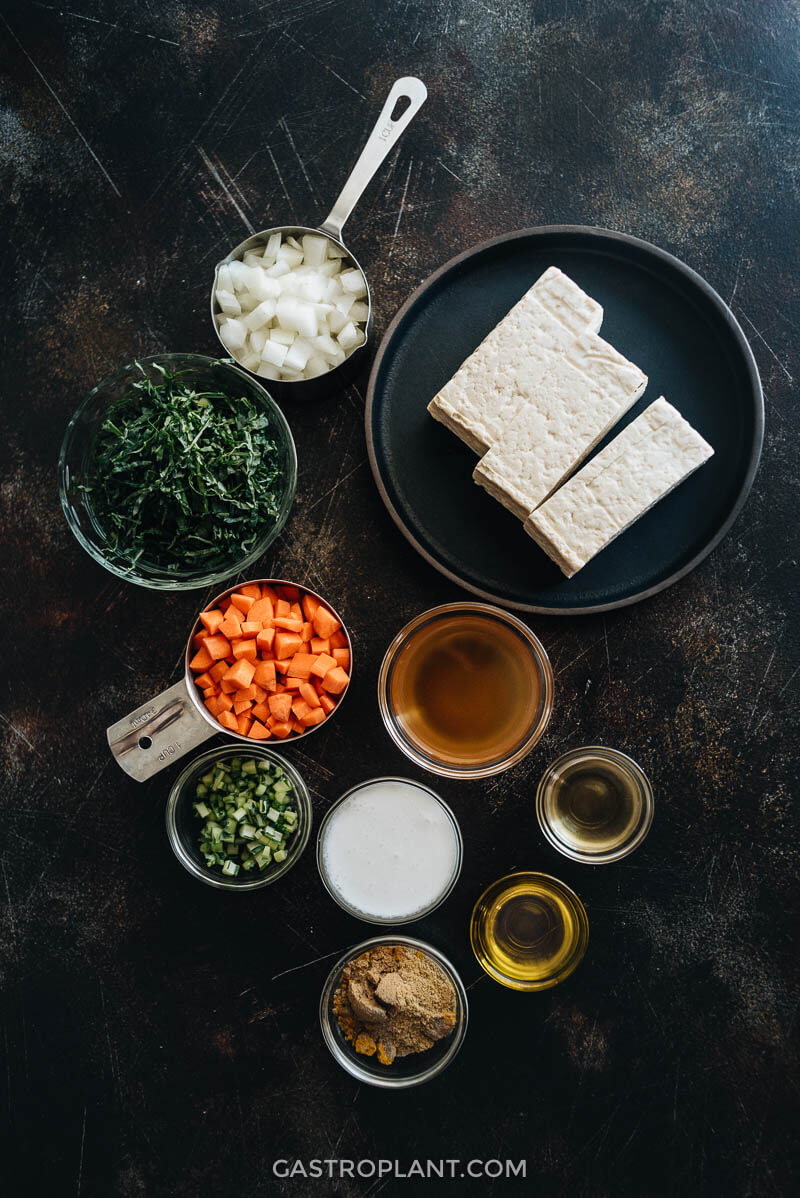 Curry tofu scramble ingredients