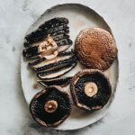 Roasted portobello mushrooms on plate