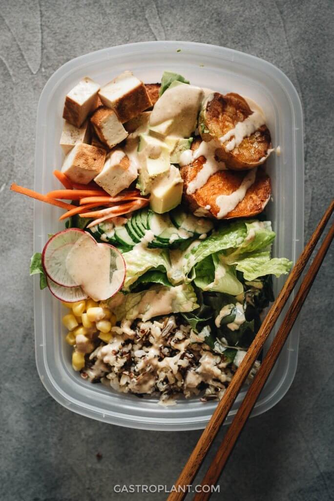 Sweet Potato Tofu Bowl