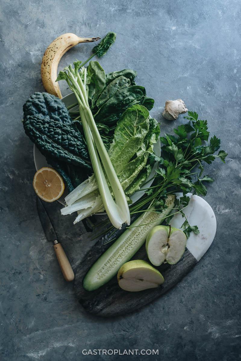 Morning green smoothie ingredients