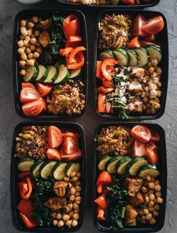 Healthy Mediterranean Buddha Bowl Meal Prep in Containers