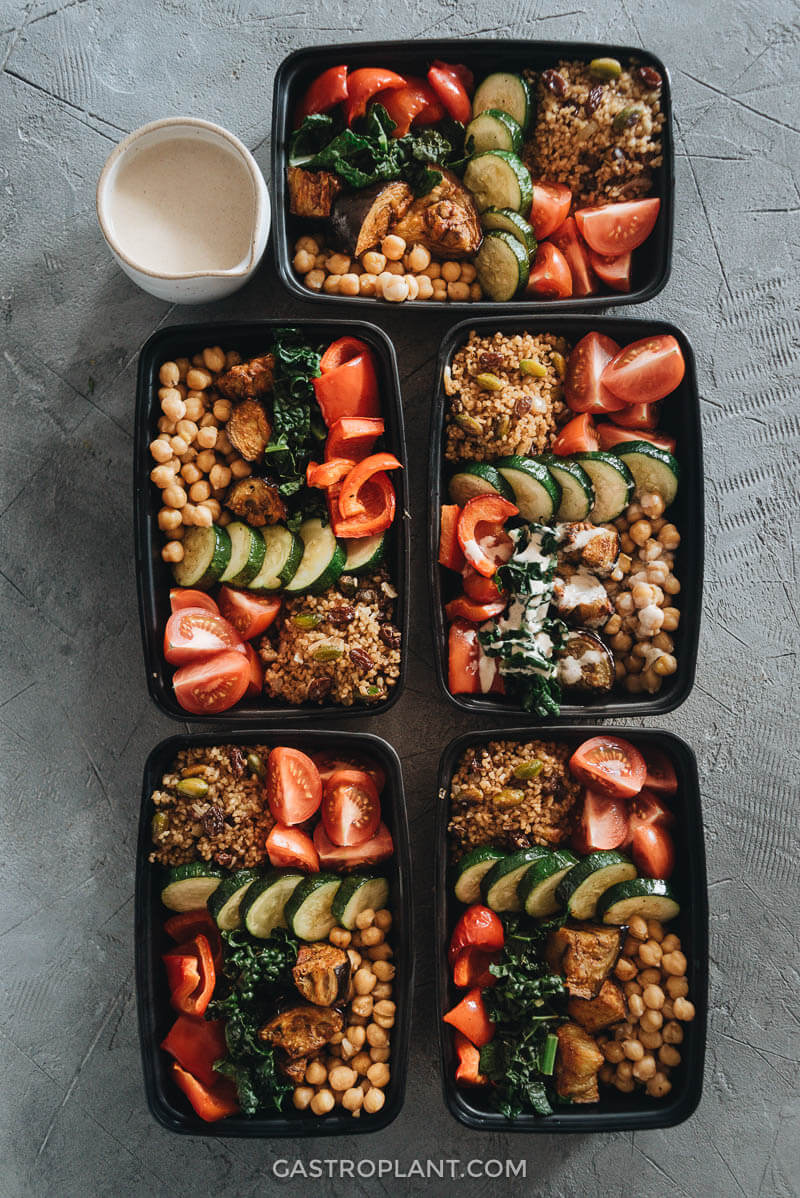 Healthy Easy Mediterranean Buddha Bowl Meal Prep for the Week