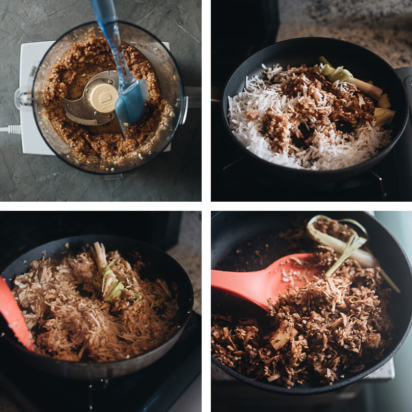 How to make Serundeng coconut topping