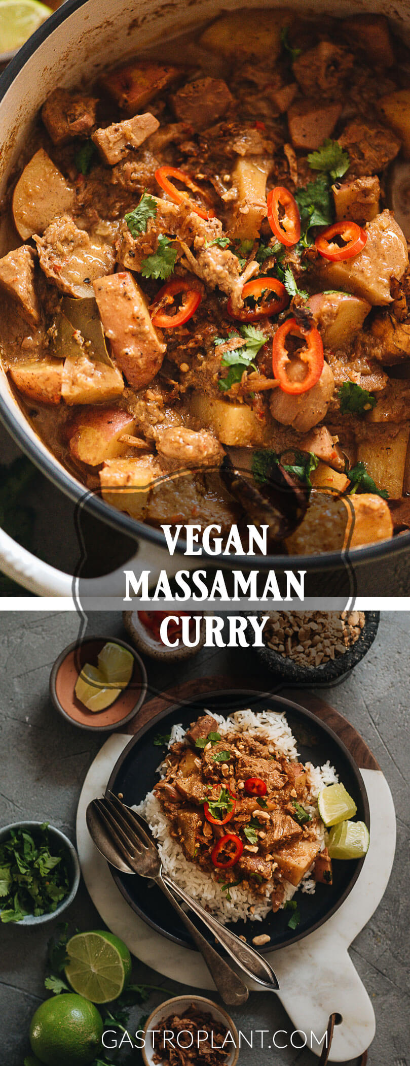 Vibrant Vegan Massaman Curry Collage