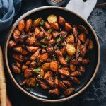 Easy spiced air fryer carrots