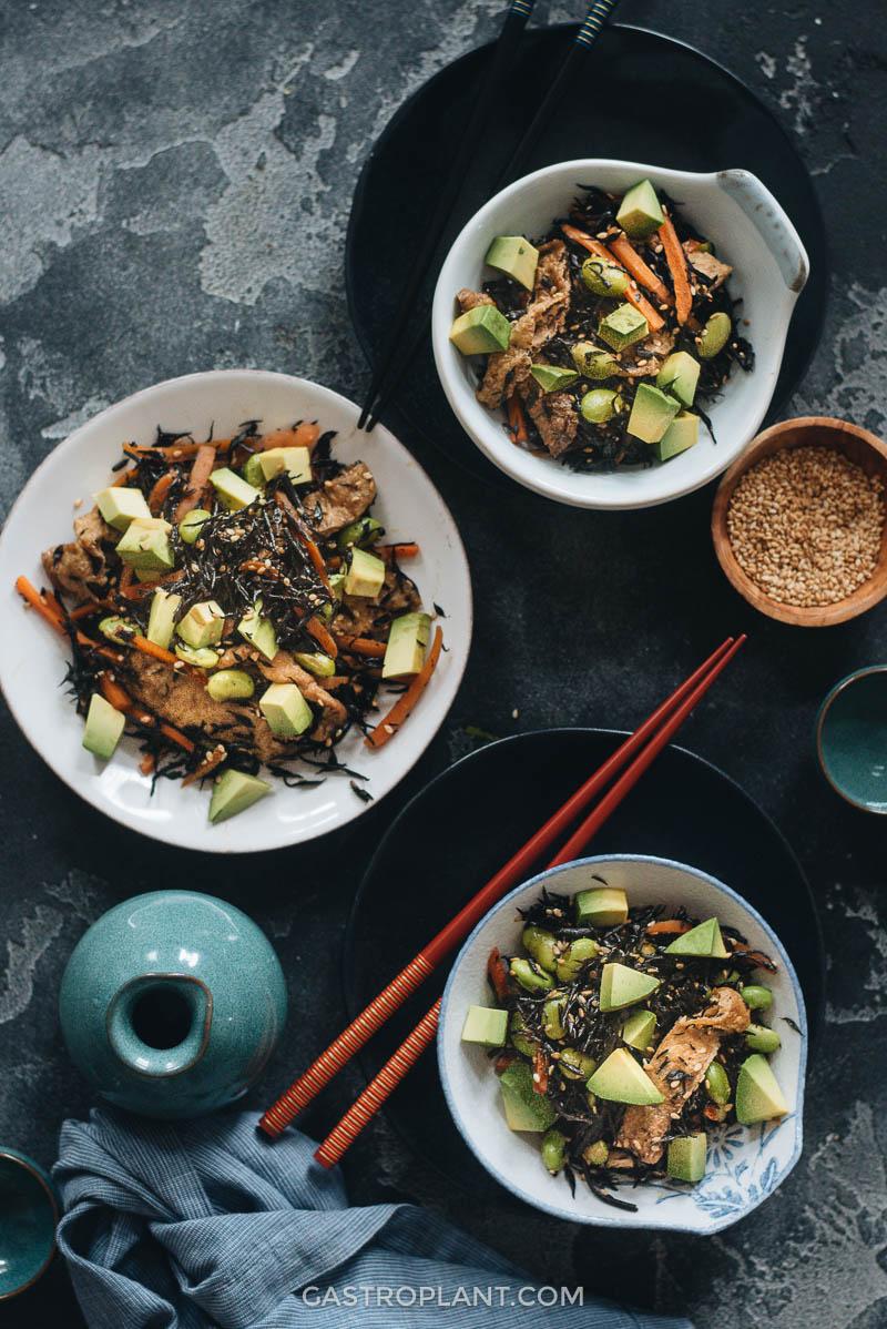 Nutritious hijiki salad appetizer