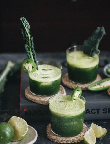 Refreshing and interesting jade mezcal margarita