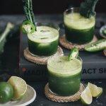 Refreshing and unusual jade mezcal margarita