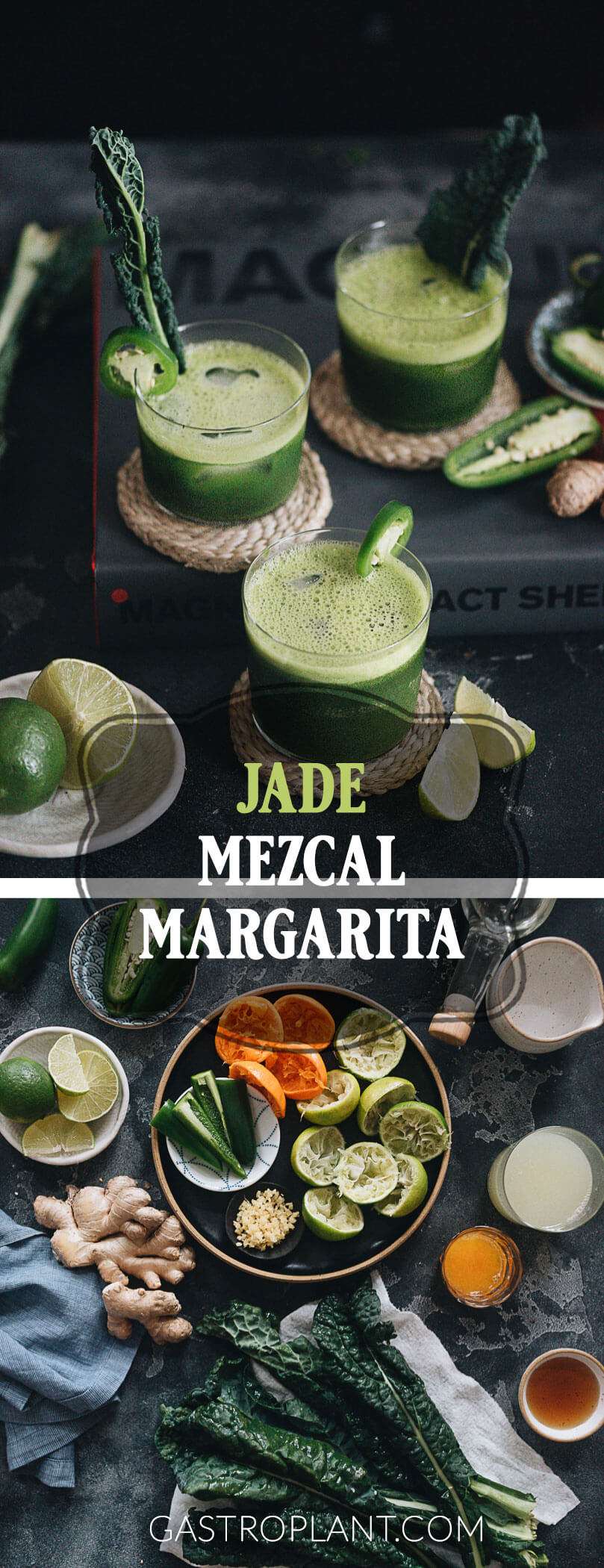 Refreshing and complex jade mezcal margarita
