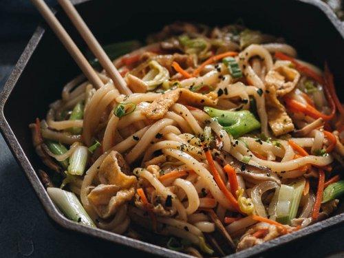 Ricetta Yaki Udon.Vegan Yaki Udon Gastroplant