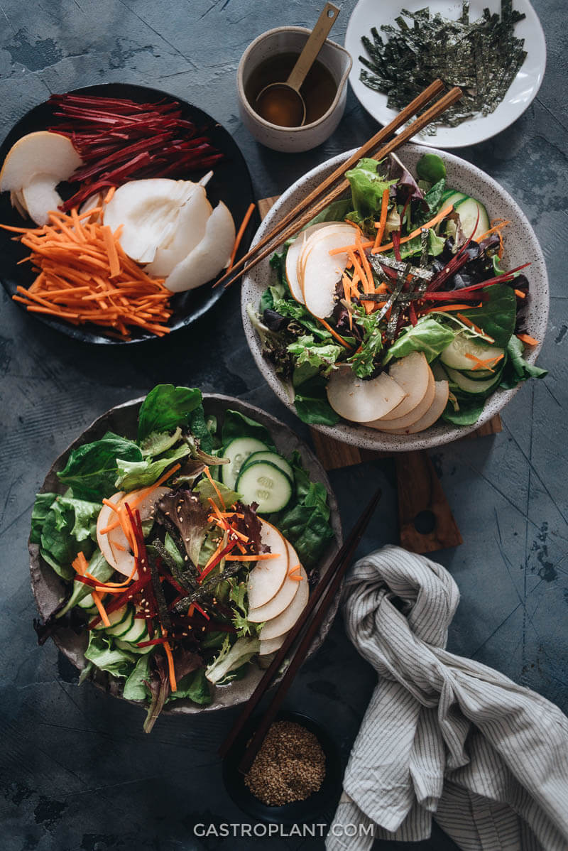 Quick and easy Asian pear salad