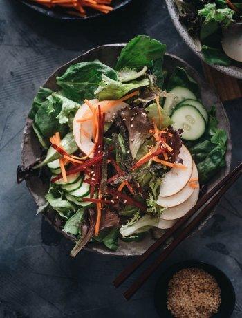 Summer Asian pear salad