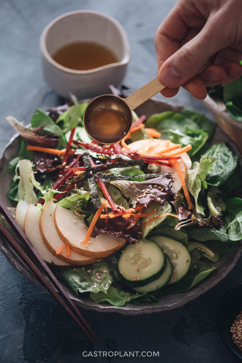 Easy Asian pear salad for dinner