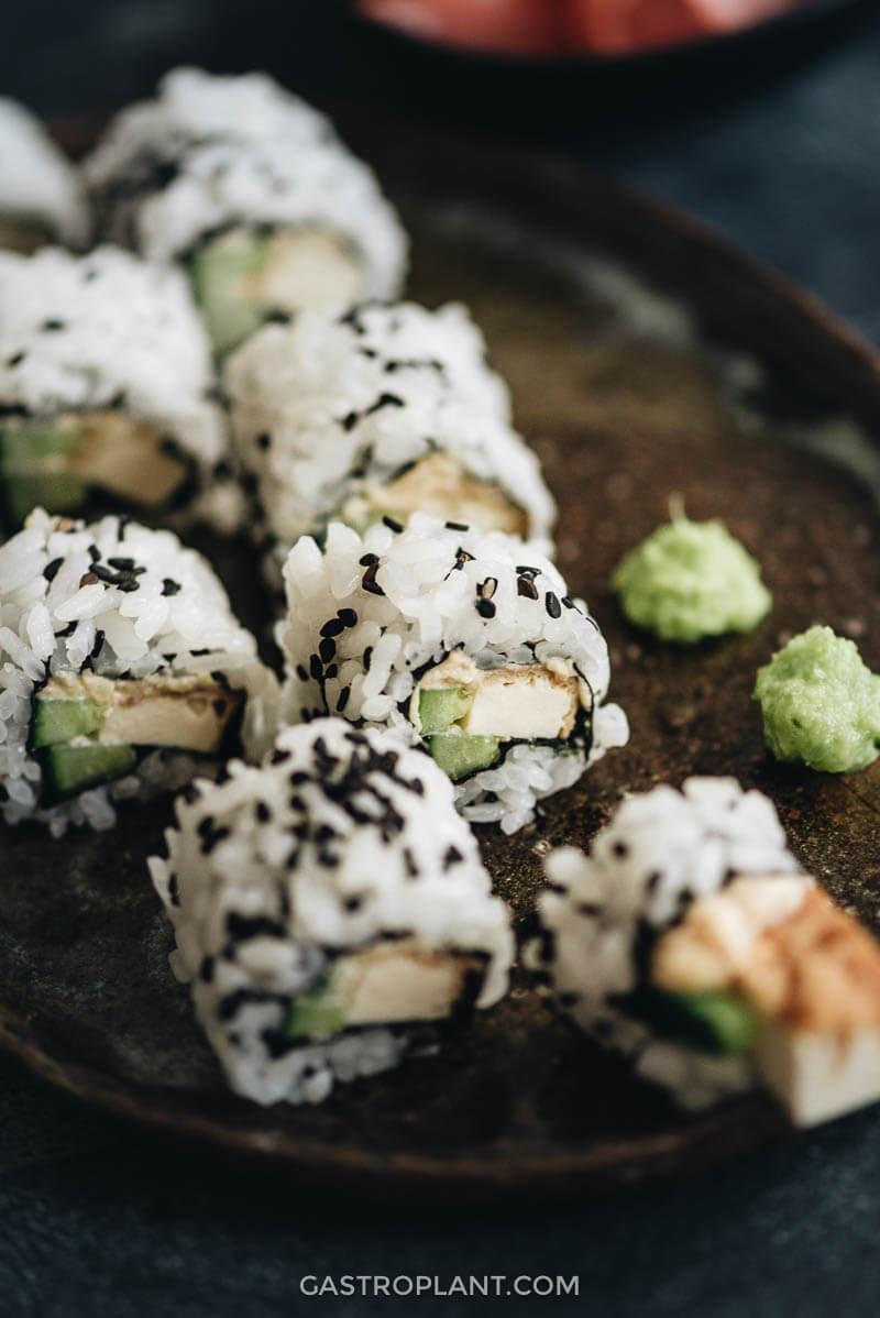 Homemade Vegan Tofu Sushi Rolls