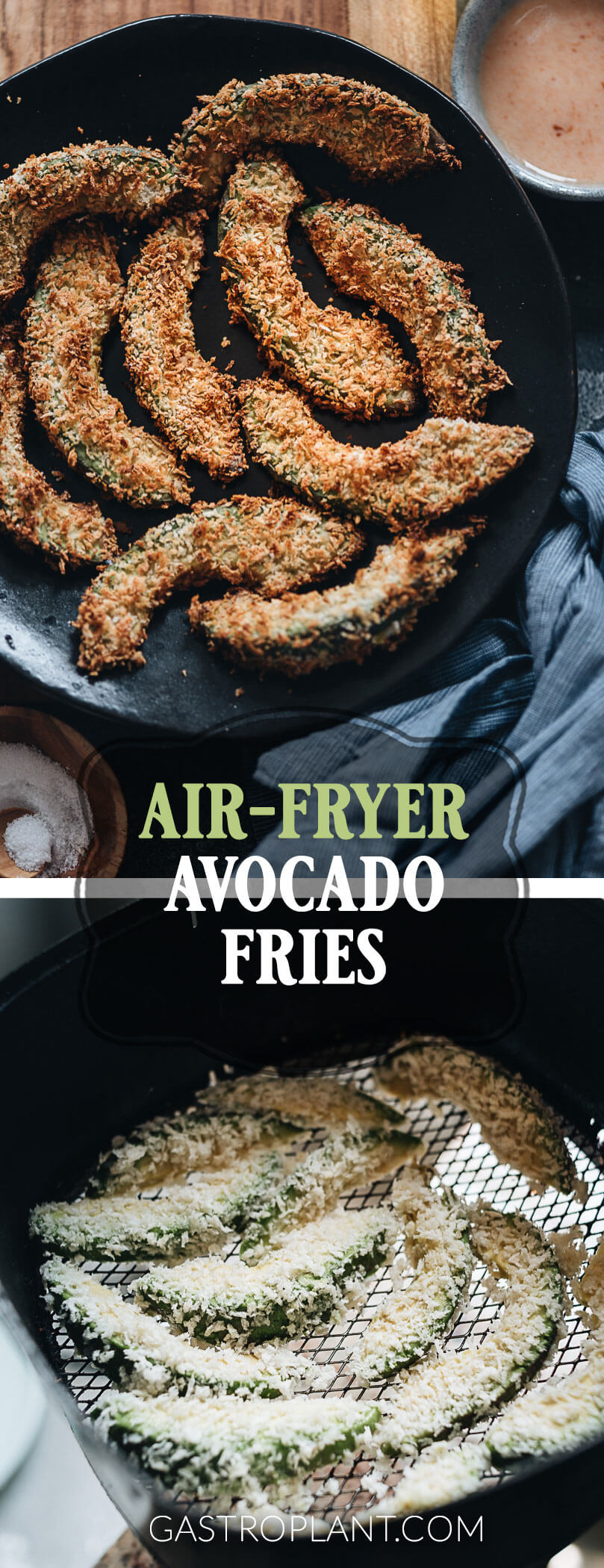 Easy Vegan Air Fryer Avocado Fries Collage