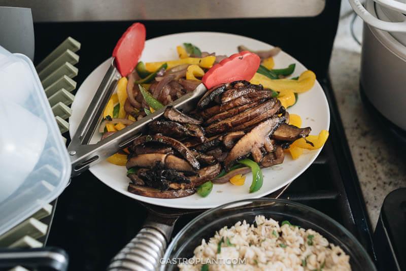 Vegan Chipotle Style Vegetable Fajitas for Meal Prep