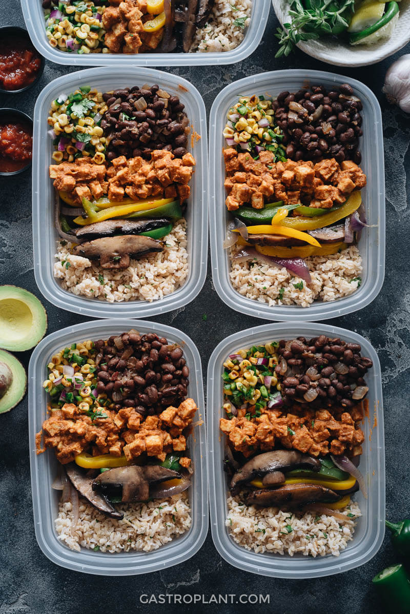 Authentic Vegan Chipotle Buddha Bowl Meal Prep