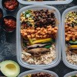 Tasty Healthy Vegan Chipotle Buddha Bowl Meal Prep