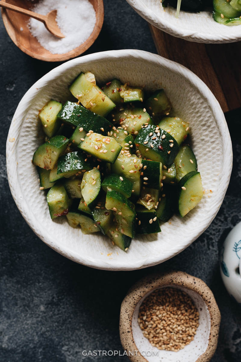 Spicy Cucumber Salad Chinese Style