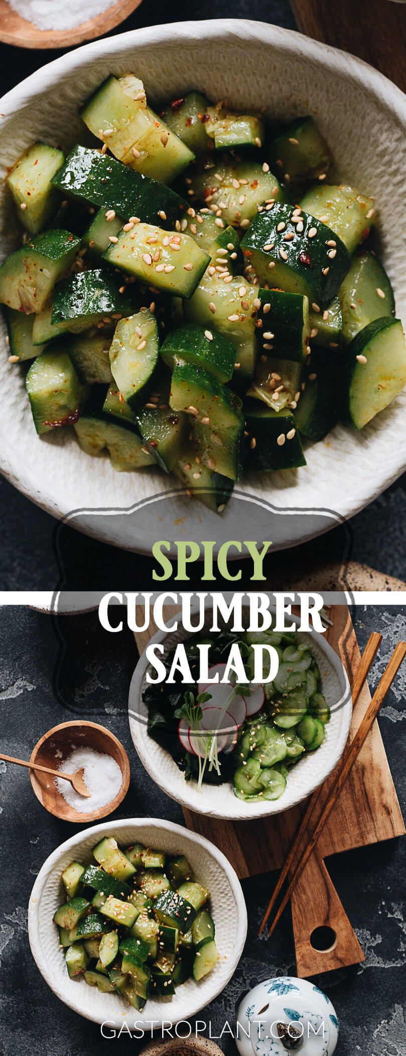 Spicy Cucumber Salad Two Ways Chinese Japanese