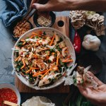 Easy healthy vegan Vietnamese jackfruit mushroom salad
