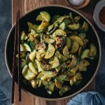 Easy healthy 3-ingredient sauteed summer squash square