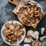 Perfectly roasted oyster mushrooms