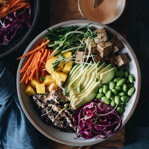 Vegan Poke Bowl with Nori-Marinated Umami Tofu