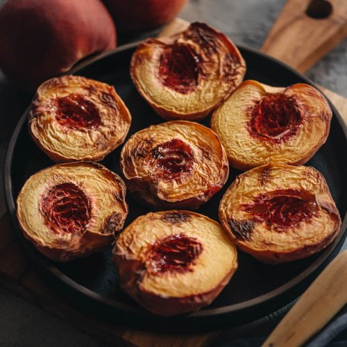 Easy healthy air fryer peaches