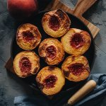 Easy Air Fryer Peaches Square