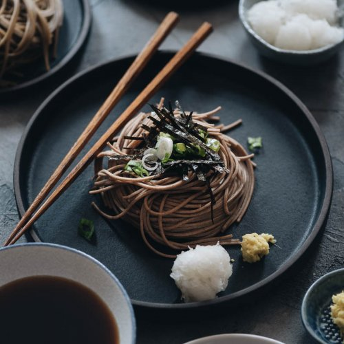Cool Vegan Zaru Soba Dipping Buckwheat Noodles