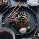 Refreshing vegan zaru soba cold noodles square