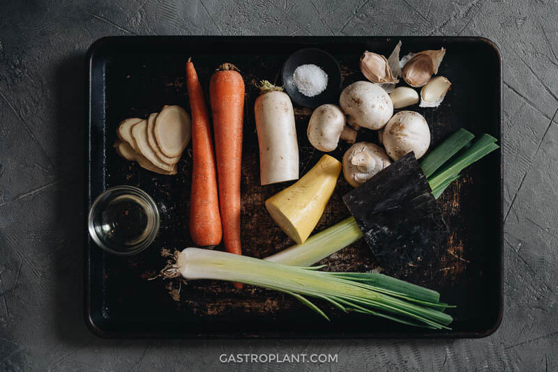 Asian vegetables for making broth