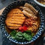 Curry Katsu Ramen in a Bowl
