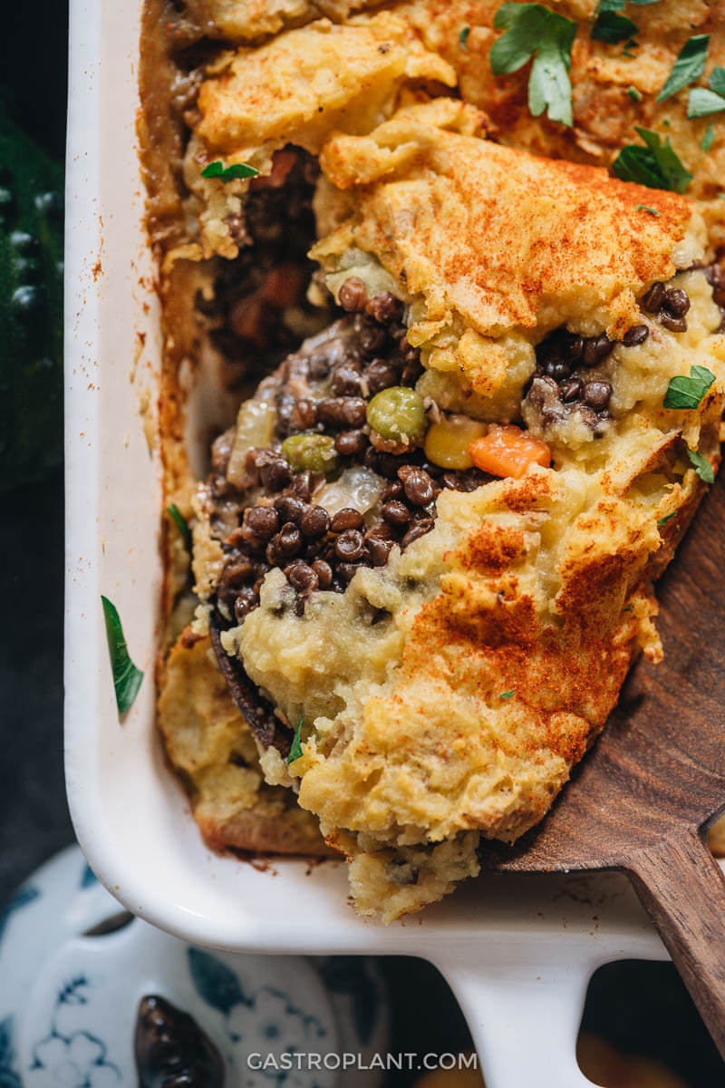 Vegan Shepherd's Pie with Lentils and Veggies