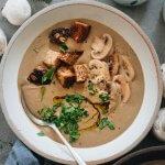 Creamy vegan cream of mushroom soup