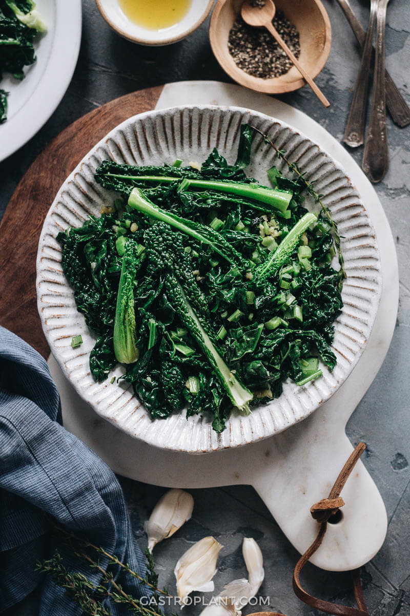 Easy fried kale for dinner
