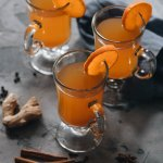 Easy spiked mulled apple cider with spice and orange