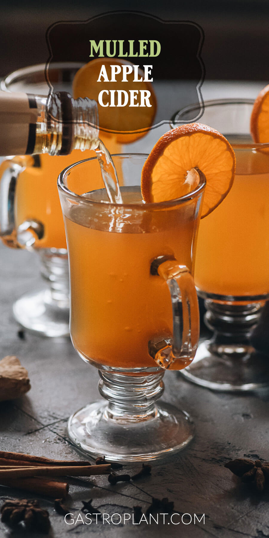 Easy stovetop mulled apple cider with orange and lots of spices