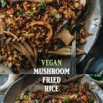 Super umami vegan mushroom fried rice